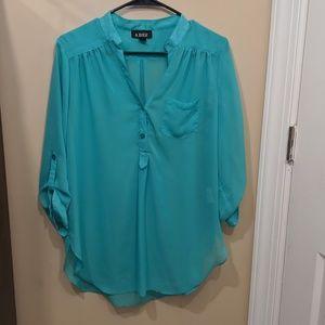 A. Byer Size XL Blouse Blue